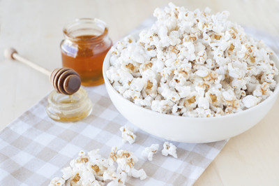 This is no ordinary popcorn. This Safari Honey-Butter-Cinnamon Popcorn is the ultimate movie-time (or anytime) snack! Courtesy: National Honey Board