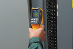 "The Fluke VT02 Visual Infrared Thermometer is a troubleshooting camera with an infrared heat map. Until now, electricians and industrial, HVAC, and automotive technicians have had to choose between single-point infrared thermometers and high-resolution thermal imagers (infrared or ""IR"" cameras). The Fluke VT02 Visual Infrared Thermometer fills the gap for when a single-spot temperature reading isn't enough and a high-resolution thermal image is more than users need. One tool combines the visual insight of a thermal imager, the visual images of a digital camera, and the point-and-shoot convenience of an IR (infrared) thermometer.  (PRNewsFoto/Fluke Corporation)"