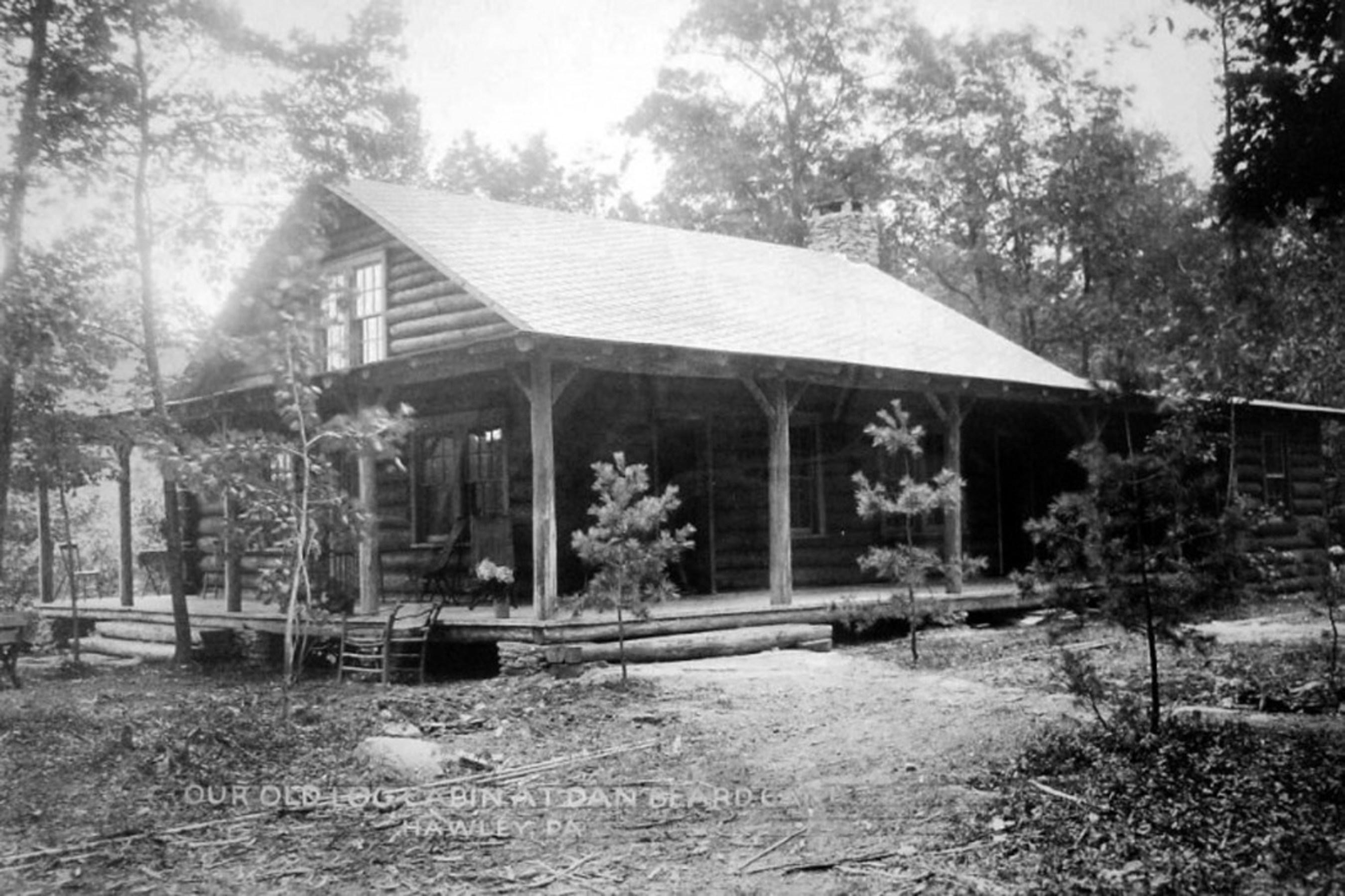 The historic Dan Beard Cabin (undated photo).