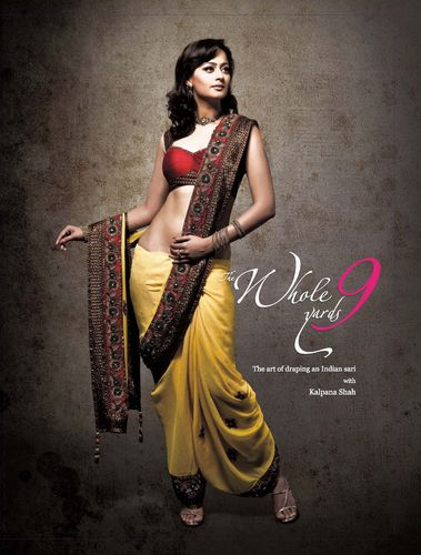 First Time In The World - A Coffee Table Book On How To Drape An Indian Sari! The Whole 9 Yards- With Kalpana Shah. (PRNewsFoto/Klipart Kreations Pvt. Ltd.)
