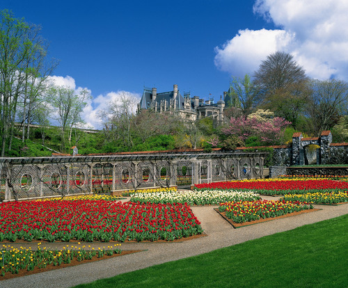 The Walled Garden on the 8,000-acre Biltmore estate in Asheville, N.C., will be vibrant when Biltmore Blooms ...