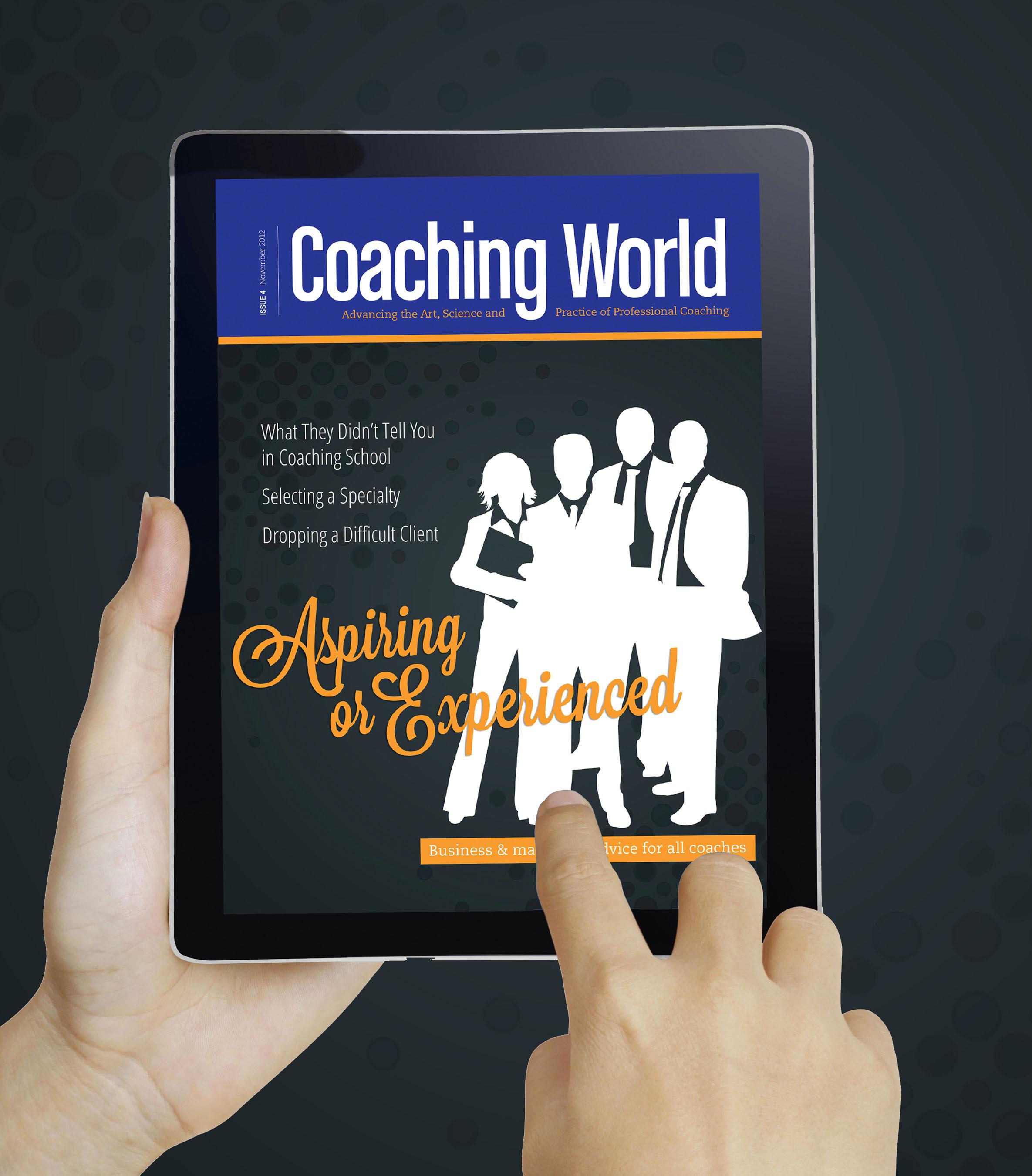 Coaching World.  (PRNewsFoto/International Coach Federation)
