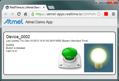 RealTime.io Demo App for Atmel Low-Cost ZigBee Gateway.  (PRNewsFoto/ioBridge, Inc.)