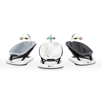The new 4moms(R) bounceRoo(TM) offers three unique vibration modes to help soothe your baby. The lightweight, portable design is battery-operated, making it easy to take on-the-go.