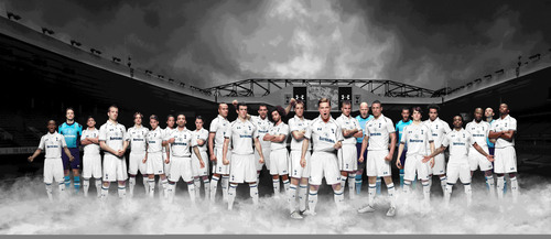 Tottenham players in home kit by Under Armour.  (PRNewsFoto/Under Armour)