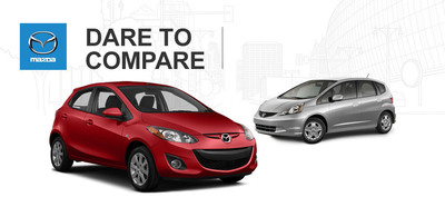 Ingram Park Mazda compares the 2014 Mazda3 and 2013 Honda Fit. (PRNewsFoto/Ingram Park Mazda )