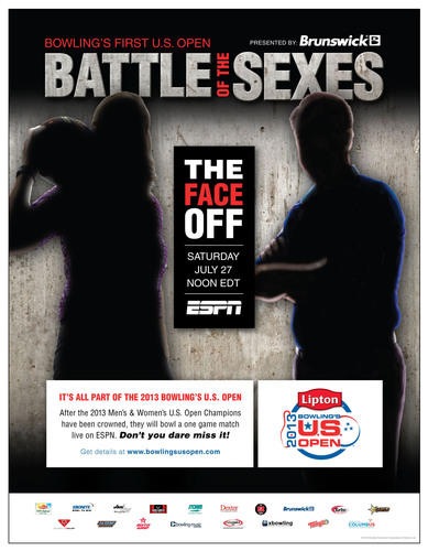 "Bowling's First-Ever U.S. Open ""Battle of the Sexes"" Event To Make Sports History.  ..."