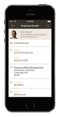 NetSuite TribeHR Mobile App Profiles (PRNewsFoto/NetSuite Inc.)