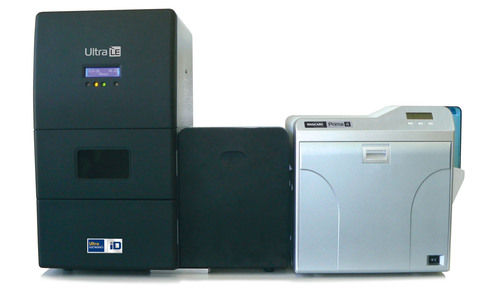 Available as a stand alone unit or in combination with the Prima 4 reverse-transfer printer.  (PRNewsFoto/Ultra Electronics Card Systems)