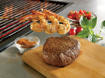 Outback Steakhouse Featured Entree: Outback Special(R) Sirloin & Grilled Shrimp on the Barbie.  (PRNewsFoto/Outback Steakhouse)