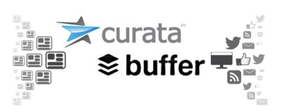 Buffer Partners with Curata - Social Media and Content Marketing Join Forces. Product integration empowers marketers to schedule social media postings of curated content.  (PRNewsFoto/Curata, Inc.)