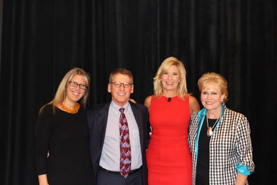 L to R: Stephanie Pfeffer Anton, EVP Luxury Portfolio International, Phil Wood, CEO John R. Wood Properties in Naples FL, Debbie Maier, International Speaker and Pam O'Connor, CEO of Leading Real Estate Companies of the World.