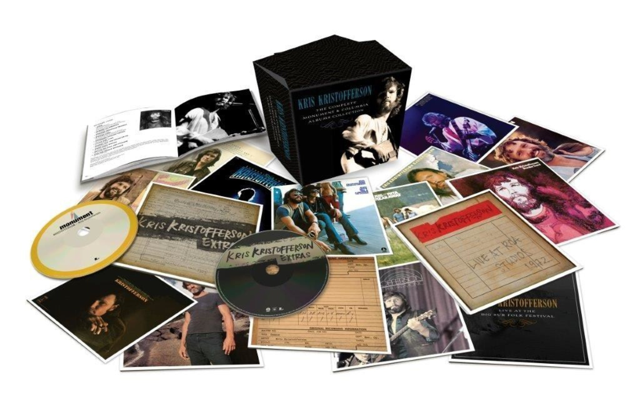 Legacy Recordings Celebrates Kris Kristofferson's 80th Birthday with Release of The Complete Monument & Columbia Album Collection on Friday, June 10