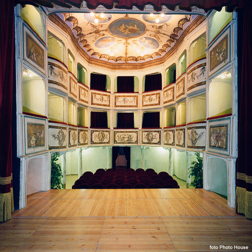 Italy's Teatro Concordia, billed as the smallest historic public theater in the world.  (PRNewsFoto/Crystal  ...
