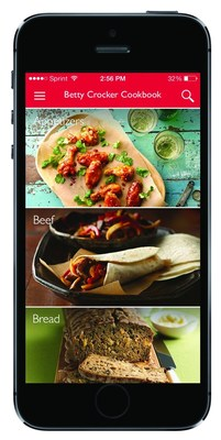 A leader in the food content space, Betty Crocker's popular free digital cookbook app has been refreshed to make cooking with iPhone, iPad and iPod touch even easier. Inspired by its best-selling cookbooks, the newly launched Betty Crocker App features more than 15,000 kitchen-tested recipes, all at your fingertips, and is available now on the App Store. (PRNewsFoto/Betty Crocker)