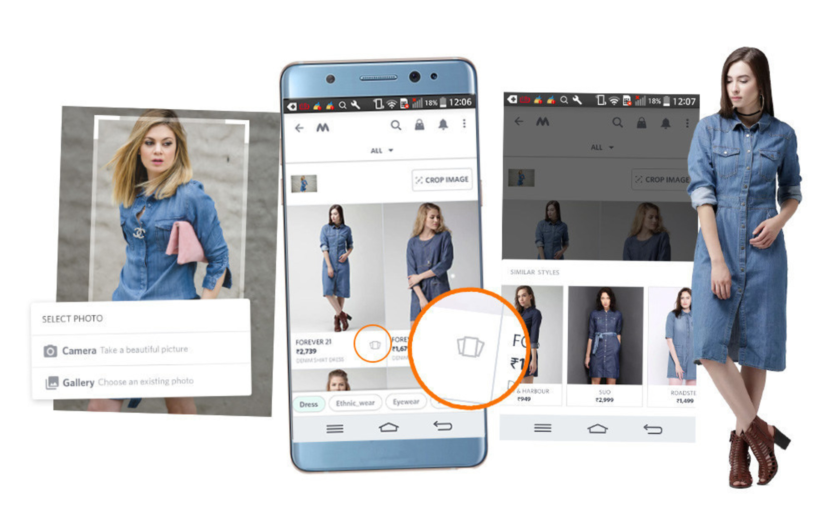 ViSenze AI powering Myntra's fashion app