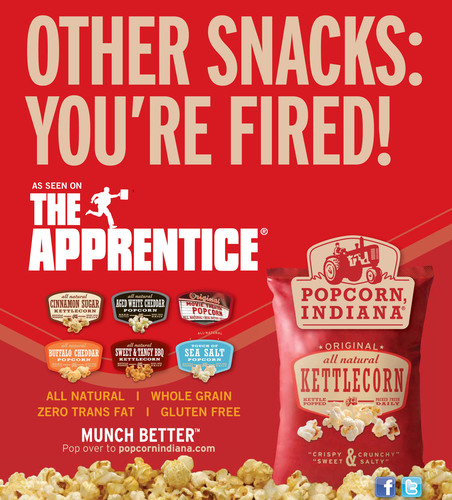 Popcorn, Indiana to Appear on the New Season of NBC's Apprentice