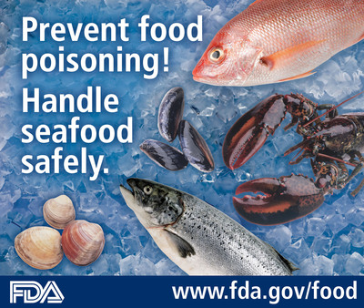 Prevent food poisoning! Buy and cook seafood safely. Learn how: www.fda.gov/food.  (PRNewsFoto/U.S. Food and Drug Administration)