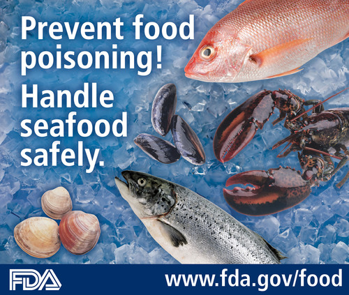 Prevent food poisoning! Buy and cook seafood safely. Learn how: www.fda.gov/food.  (PRNewsFoto/U.S. Food and ...
