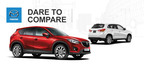 It's a showdown of sporty crossover SUVs when Mazda of Lodi pits the 2015 Mazda CX-5 vs. 2014 Mitsubishi Outlander Sport. (PRNewsFoto/Mazda of Lodi)