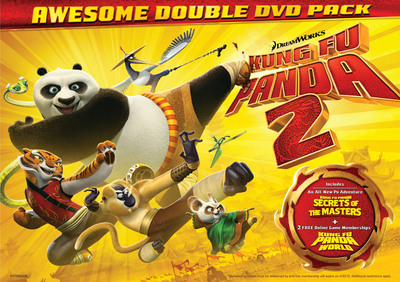 THE HILARIOUS GLOBAL SMASH HIT KUNG FU PANDA 2 BECOMES THE MOST AWESOME HOLIDAY GIFT PACK ON BLU-RAY AND DVD TUESDAY, DECEMBER 13TH. The First-Of-Their-Kind Awesome Gift Packs Include A Brand New Kung Fu Panda Adventure Plus 2 FREE Kung Fu Panda World Online Game Memberships.  (PRNewsFoto/Paramount Home Entertainment)