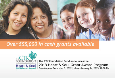Grant Deadline extended to encourage even more nonprofits to apply for a CTK Foundation H&S grant by January 14th.  (PRNewsFoto/CTK Foundation Fund)