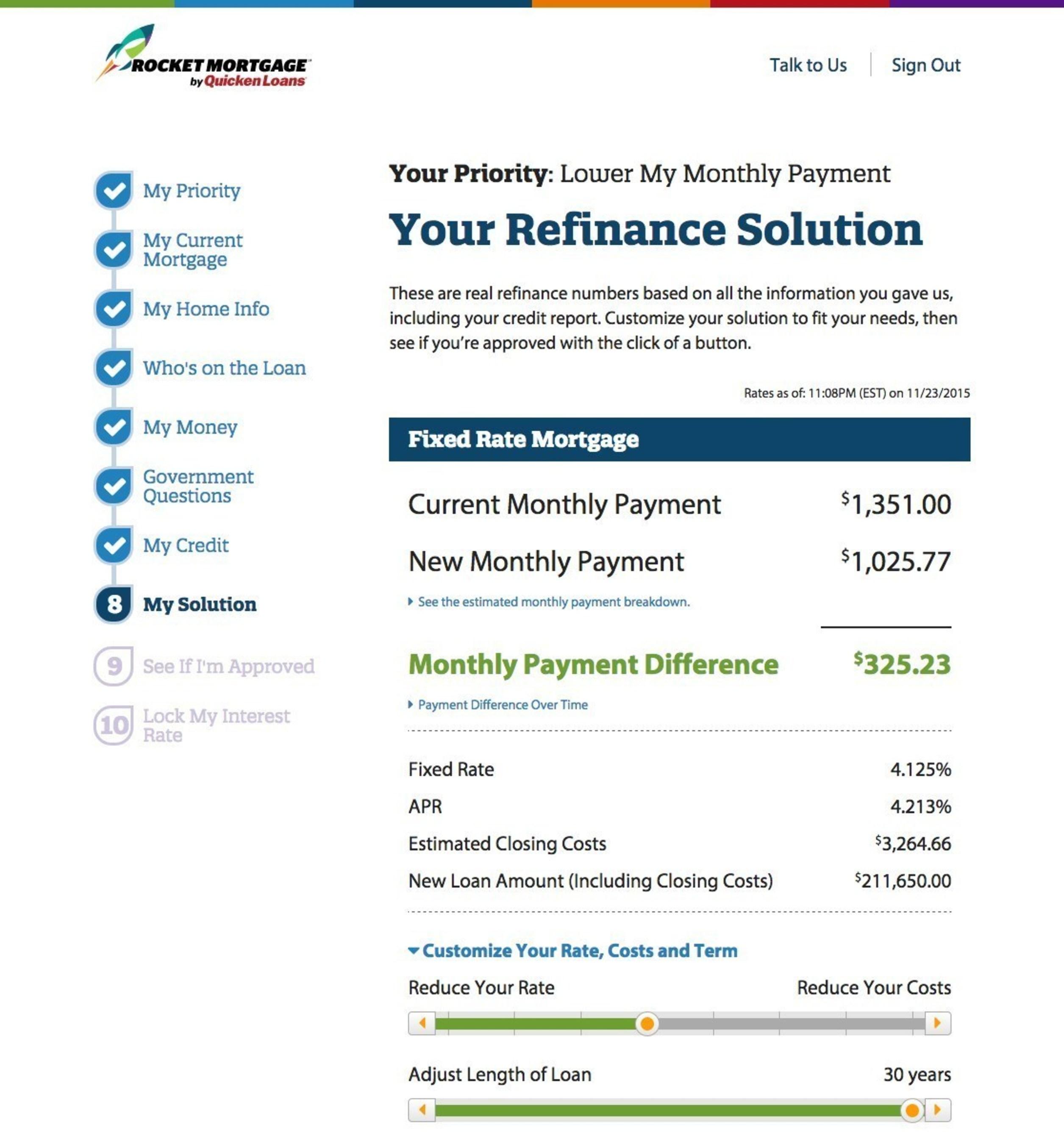 Customizable refinance solution - Rocket Mortgage