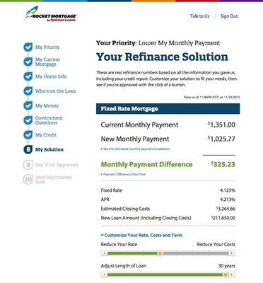 Customizable refinance solution - Rocket Mortgage