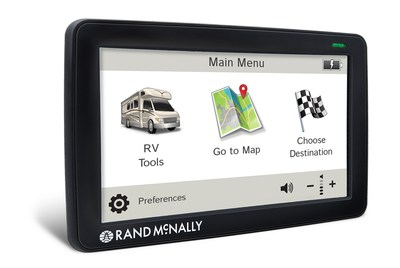 Rand McNally Launches All-New RV GPS: RVND(TM) 7730 LM. Just in time for Labor Day getaways, today Rand McNally has made available its third-generation RV GPS device. Redesigned inside and out, the RVND(TM) 7730 LM provides all-new hardware, a faster processor, two new graphical user interface options, with improved map appearance. Bringing together Rand McNally's award-winning navigation and new features such as Toll Cost estimates and Advanced Lane Guidance, the RVND(TM) device delivers leading-edge technology and tools specifically designed for RVers. (PRNewsFoto/Rand McNally)
