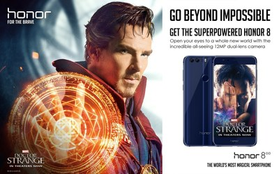 Global Smartphone Brand Honor Teams with Marvel Studios' Doctor Strange to Bring