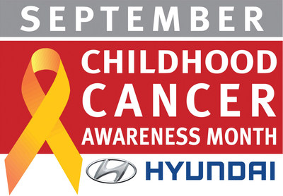 Hyundai National Childhood Cancer Awareness Month logo