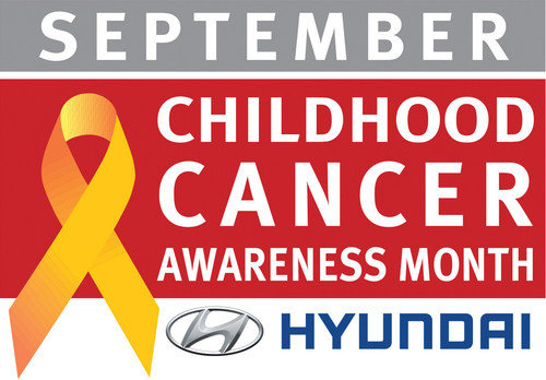 Hyundai National Childhood Cancer Awareness Month logo (PRNewsFoto/Hyundai)