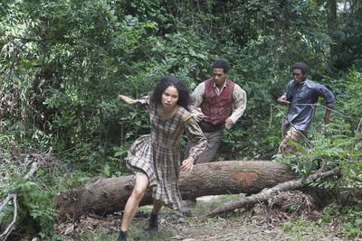 (LEFT TO RIGHT):  Jurnee Smollett-Bell as Rosalee, Alano Miller as Cato, Renwick Scott as Henry