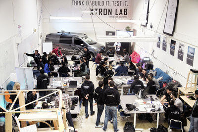 "24-hour hackathon with Mercedes-Benz in Silicon Valley - ""Garage"" of Mercedes-Benz Vans in Menlo Park, CA."