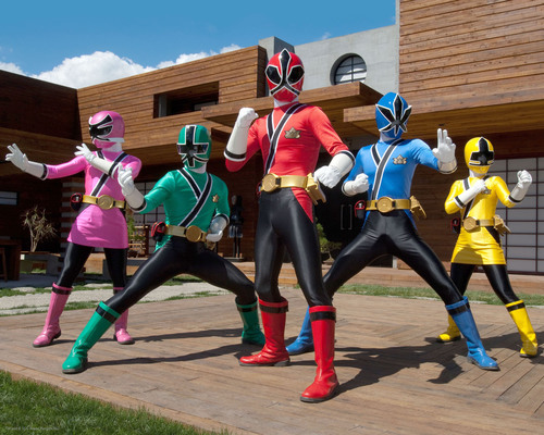 Pictured:  A new generation of Power Rangers must master the mystical and ancient Samurai Symbols of Power ...