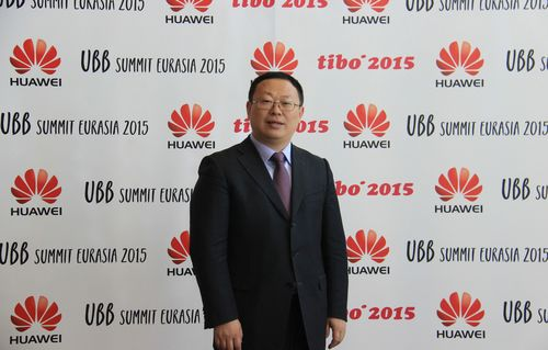 Huawei hosts Eurasia UBB Summit with Belarusian Ministry of Communications and Information and launches innovative ICT solutions at TIBO 2015 (PRNewsFoto/Huawei Global)