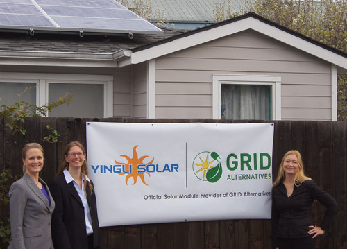 Yingli Green Energy and GRID Alternatives Partner to Provide Solar Energy to 400 Low-Income