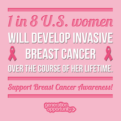 GO Pink Breast Cancer Awareness Month Campaign by Generation Opportunity.  (PRNewsFoto/Generation Opportunity)