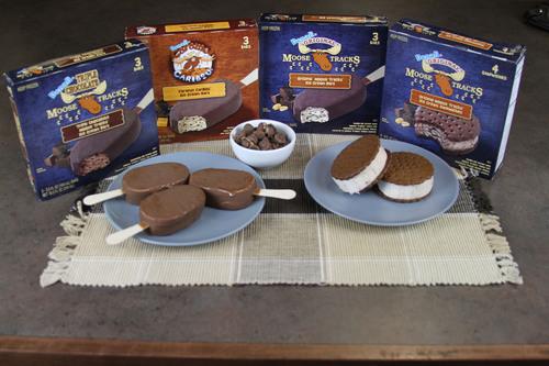 New Moose Tracks (R) ice cream novelties from Denali Flavors, Inc.  (PRNewsFoto/Denali Flavors)
