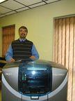Dr Dharmesh Mistry of 3D Digital Dental with the Objet Eden260V 3D Printer