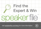 Contest questions will be posted on the Speakerfile blog at www.speakerfile.com/blog and on Twitter @Speakerfile and Facebook.  (PRNewsFoto/Speakerfile)