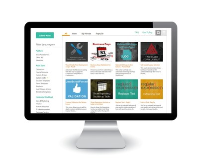 Nintex Xchange is an online gallery where Nintex partners and customers can easily find, use, and share workflow assets built by the community, for the community. Xchange is accessible via xchange.nintex.com/. Once an asset is selected for download from Nintex Xchange, it can be imported directly into the Nintex Workflow or Nintex Forms designer and put into practice immediately.
