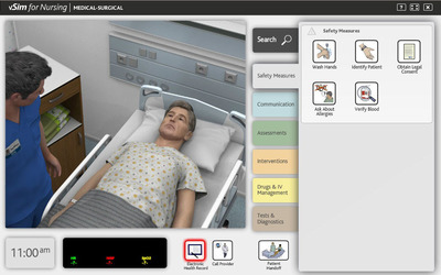 Laerdal Medical and Wolters Kluwer Health today introduced vSim for Nursing, a virtual simulation learning tool for nursing students. Accessed online, vSim for Nursing simulates a patient encounter using computer-animated avatars that allow nursing students to access and practice patient care anytime and anywhere. The product can be purchased online at: https://thepoint.lww.com/vsim. (PRNewsFoto/Wolters Kluwer Health) (PRNewsFoto/WOLTERS KLUWER HEALTH)