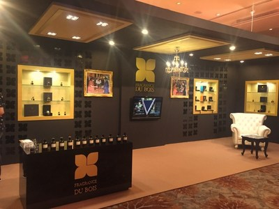 Fragrance Du Bois' luxurious 'pop up' display at the Annual General Meeting. (PRNewsFoto/Asia Plantation Capital)