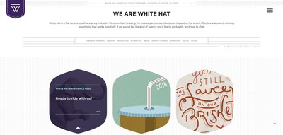 Re-branded landing page for White Hat, formerly Marketing Matters.