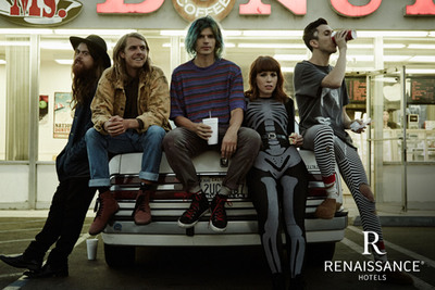 To officially kick-off the partnership this March, Renaissance Hotels will host a concert by the band, Grouplove, at a yet to be revealed hotel location. (PRNewsFoto/Renaissance Hotels) (PRNewsFoto/RENAISSANCE HOTELS)