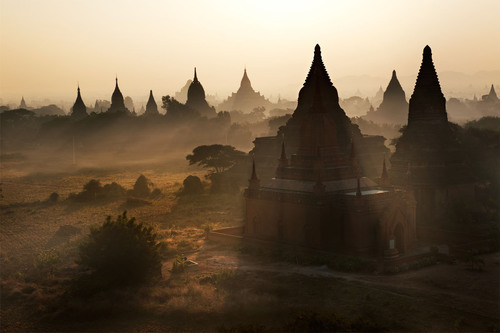 Sunrise over Bagan, Myanmar.  (PRNewsFoto/Crystal Cruises)