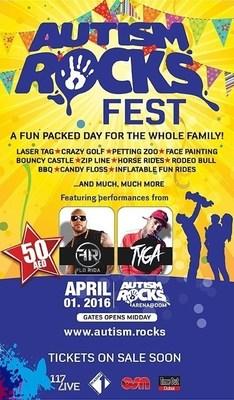 Autism Rocks Announces Flo Rida and Tyga to Headline Autism Rocks Festival in Dubai