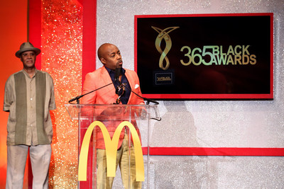 NEW ORLEANS - (July 5, 2014) – Film producer Will Packer owned the spotlight after accepting an award presented by veteran film producer Warrington Hudlin at the 11th annual McDonald's 365Black Awards ceremony, held at the New Orleans Theater July 5. McDonald's 365Black Awards are given annually to salute outstanding individuals who are committed to making positive contributions that strengthen the African-American community.