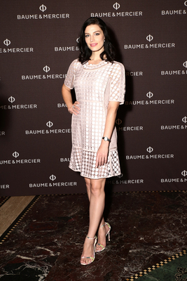 Actress, Jessica Pare, of the critically acclaimed, Emmy winning AMC Original Series, Mad Men wearing Baume & Mercier's Promesse 10160. For more information about Baume & Mercier, visit http://www.baume-et-mercier.com.
